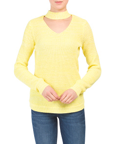 Juniors Choker Sweater