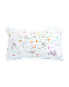 14x24 Easter Bunny Tracker Pillow