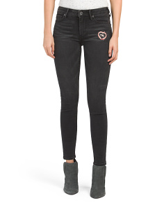 Halle Super Skinny Patched Jeans