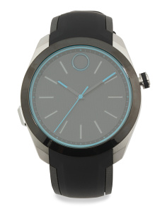 Men's Swiss Made Smartwatch With Silicone Strap