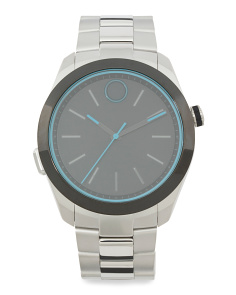 Men's Swiss Made Smartwatch With Teal Led Lights