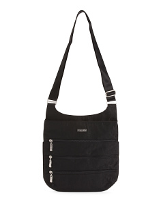 Three Zip Crossbody