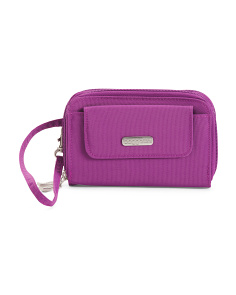 Rfid Protection Wristlet Wallet