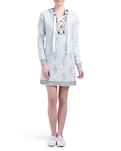 Juniors Terry Hooded Dress