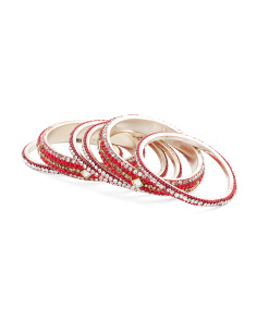 Made In India Crystal Beaded Bangle Bracelet Set
