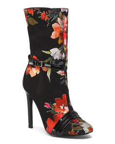 Floral Mid Shaft Booties