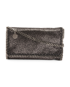 Specked Metallic Falabella Crossbody