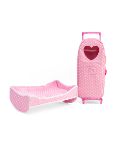 3-in-1 Doll Carrier With Rocking Bed