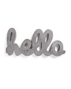 Hello Galvanized Metal Wall Sign