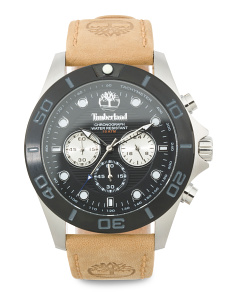 Men's Chronograph Northfield Leather Strap Watch