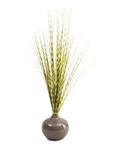 22in Faux Zebra Grass In Deco Vase