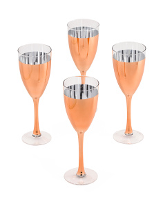 4pc Cannes Copper Wine Glasses