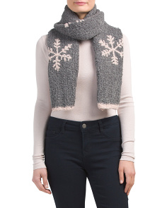 Boucle Snowflake Scarf