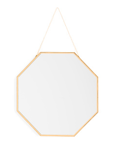 11in Hanging Geometric Mirror