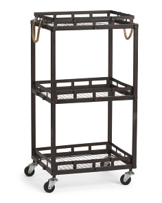 3 Tier Metal Rolling Rack