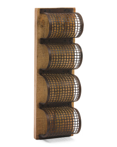 4 Bottle Stacked Wine Rack
