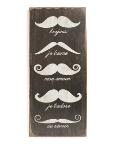 Moustache Wall Art