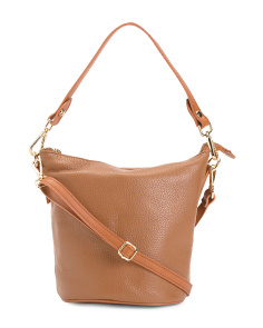 Made In Italy Leather Hobo