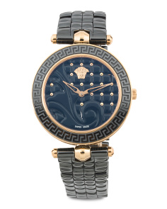 Women's Swiss Made Vanitas Ceramic Strap Watch