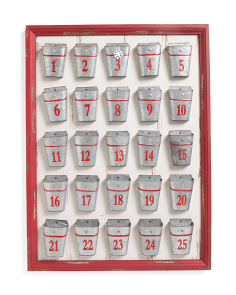 Galvanized Buckets Advent Calendar