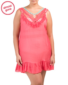 Plus Pom Pom Crocheted Cover-up