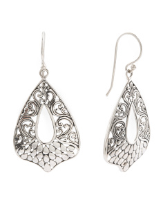 Made In Bali Sterling Silver Filigree Earrings