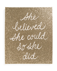 20x24 She Believed Canvas Wall Art