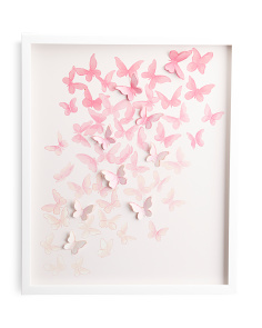 20x24 Ombre Multi Butterfly Wall Art