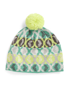 Patterned Wool Blend Beanie