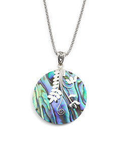 Made In Bali Sterling Silver Abalone Vine Necklace