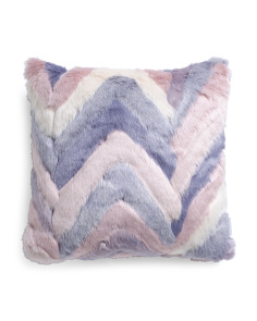 20x20 Chevron Faux Fur Pillow