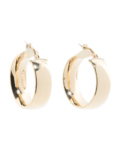 Made In Italy 14k Gold Chubby Hoop Earrings
