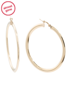 Made In Italy 14k Gold Polished Hoop Earrings