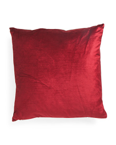 20x20 Grace Velvet And Linen Pillow