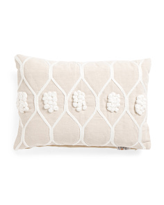 Made In India 14x20 French Knot Pillow