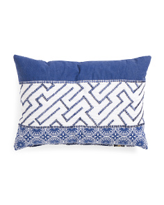 Made In India 14x20 Printed Mudcloth Pillow