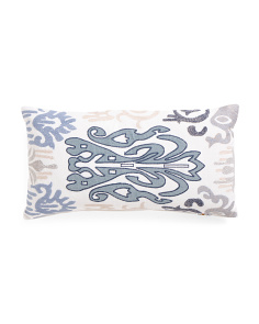 Made In India 14x26 Applique Pillow