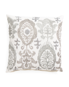 Made In India 20x20 Embroidered Pillow