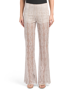 Made In USA Sheer Lace Pants