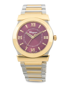 Women's Swiss Made Vega Two Tone Bracelet Watch