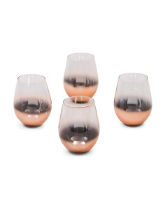 4pc Ombre Stemless Wine Glasses