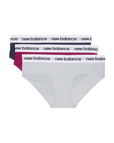 3pk Branded Waistband Hipster Panties