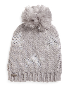 Shining Star Hat With Knit Pom Pom