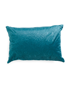 18x26 Embossed Velvet Pillow
