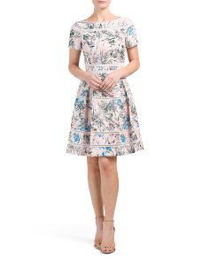 Mella Printed Silk Dress
