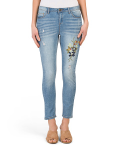 Embroidered Denim Jeans