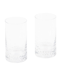 2pc Braided Highball Glasses