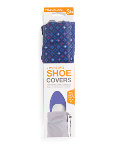 2pk Packable Shoe Covers