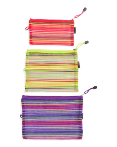 3pc Colorful Mesh Packing Pouches