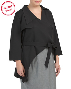 Plus Wrap Blouse With Cape